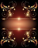 Glowing Stars And Golden Ornament