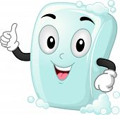 Mascot Illustration of a Soap Giving a Thumbs Up
