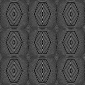 Seamless geometric texture. Op art pattern. Vector art.
