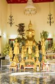 BANGKOK, THAILAND, DECEMBER 26, 2013: Statues in Wat Pho temple