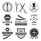 pic of barber razor  - Barber shop logo - JPG