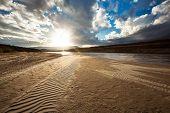 Sand and sky landscape