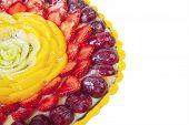 Close-up Dessert Cake Isolated
