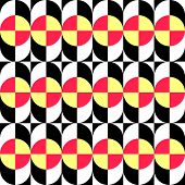 Seamless Curved Shape Pattern. Vector Background