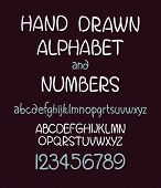 vector set of calligraphic acrylic or ink alphabet. Dark background.