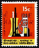 Postage Stamp South Africa 1967 Shaft Tower, Industry