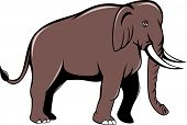 Indian Elephant Side View Cartoon