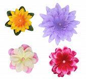 Silk Fabric Flower Buttons