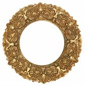 Gold Round Picture Frame