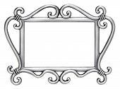 Silver Swirl Picture Frame