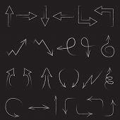 Arrows drawn with chalk