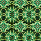 Mandala vector ornament. Green colors