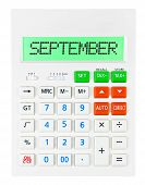 Calculator With September