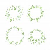 Frames With Leaves. Vector Set