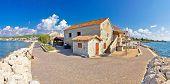 Adriatic Village Of Bibinje Panoramic Waterfront View