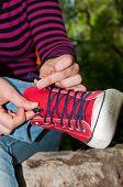 Tie Shoelaces On Sneakers