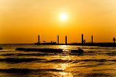 Sunset At The Beach On Koh Larn Pattaya