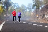 picture of cold-weather  - People running  - JPG