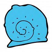 retro comic book style cartoon snail shell