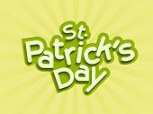 St. Patrick's Day celebrations background with stylish text on shiny green rays background.