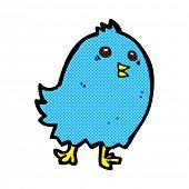 retro comic book style cartoon bluebird