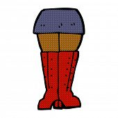 retro comic book style cartoon legs