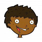 retro comic book style cartoon laughing boy