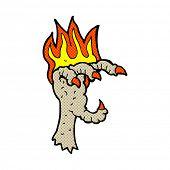 retro comic book style cartoon spooky claw