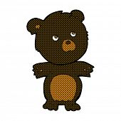 retro comic book style cartoon funny teddy bear