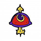 retro comic book style cartoon eye symbol