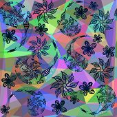 Abstract Colorful Paisley Background