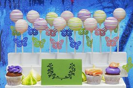picture of cake pop  - Delicious sweet cake - JPG