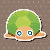 pic of sea-turtles  - Sea Animal Turtle Cartoon Theme Elements - JPG