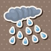 picture of rainy day  - Weather Rainy Day Theme Elements - JPG
