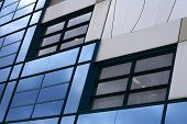 Blue Corporate Windows Wall