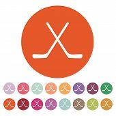 stock photo of hockey arena  - The hockey icon - JPG