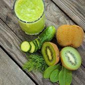 pic of sorrel  - Fresh green smoothie - JPG