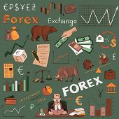 picture of nyse  - Colored finance forex hand drawing - JPG