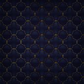 stock photo of quilt  - Quilted simple arabesque seamless pattern - JPG
