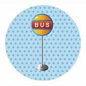 image of bus-shelter  - Bus Stop Theme Elements - JPG