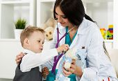 image of medical doctors  - Family doctor examination - JPG