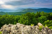 pic of blue ridge mountains  - View of the Blue Ridge Mountains from Loft Mountain in Shenandoah National Park Virginia - JPG