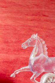 stock photo of workhorses  - Horse of a glass on the background - JPG