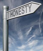 Honesty Sign Clipping Path