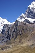Glacier Icefall In High Andes