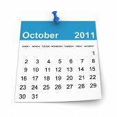 Calendar 2011 - October