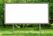 Billboard among greenery
