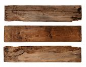 picture of rotten  - Old planks isolated on white - JPG