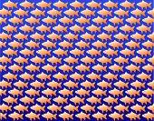 Background vector wallpaper design of repeating goldfish