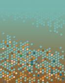 Abstrato base vetoriais editáveis de hexágonos com espaço de cópia
